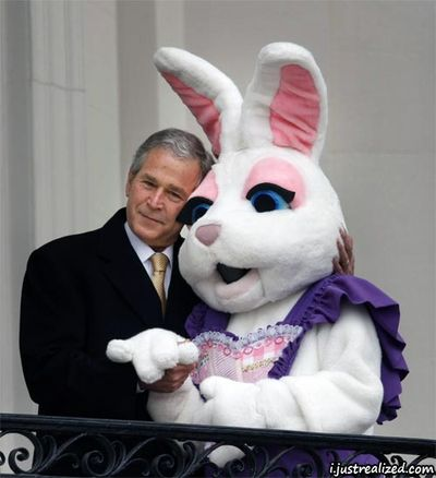 George-bush-with-the-easter-bunny