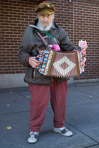 Old man accordian